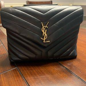 YSL Loulou monogram medium quilted shoulder bag